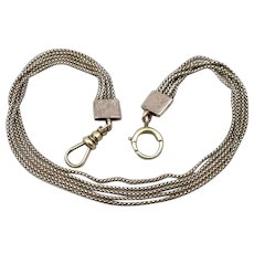 Antique Victorian 10K GOLD Pocket Watch Chain Anklet Bracelet 5 Chain Swag 11.2g