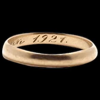 1921 Wedding Band Yellow Gold
