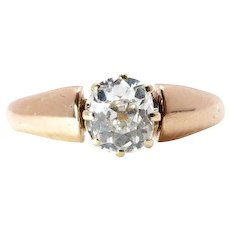 Antique Engagement Ring Old Mine Cut Diamond Ring