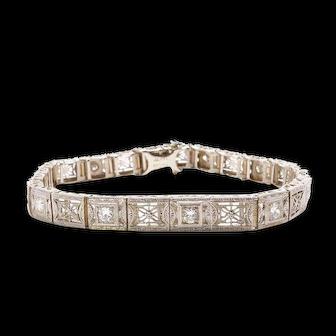 Vintage Diamond Bracelet Filigree Bracelet Tennis Bracelet
