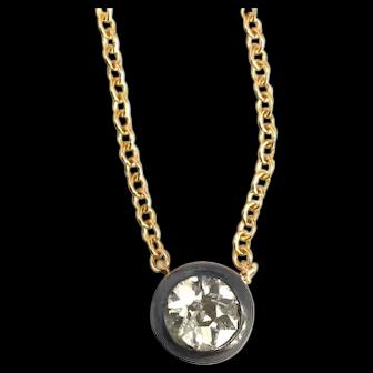 Georgian Diamond Necklace Repurposed Old Mine Cut Diamond
