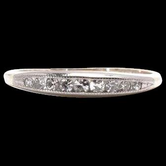 1946 Diamond Band Wedding Band or Wedding Ring