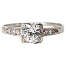 Art Deco Diamond Ring White Gold