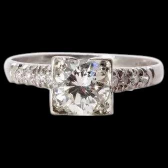 Art Deco Diamond Engagement Ring Platinum