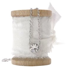 Diamond Solitaire Necklace Repurposed Old European Cut Diamond