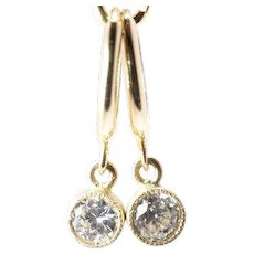 Diamond Drop Earrings Hoop Earrings Old European Cut