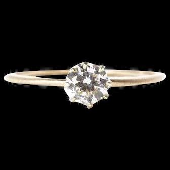 Classic Diamond Engagement Ring Old European Cut Diamond