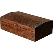Antique Anglo-Indian Dark Ribbed Wood Fold-Out Writing Desk Box