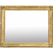 19th Century French Gilt Wood and Gesso Floral Rectangular Mirror
