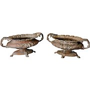 Pair of French Chateau Spelter Jardinieres Planters Cache Pots