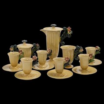 Belgian Ceramic 9pc. Coffee Set Service