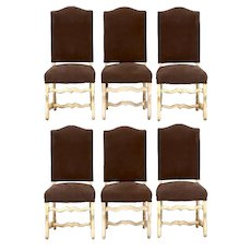 Set of 6 French Os De Mouton Louis XIII Dining Chairs