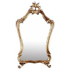 Italian Giltwood Mirror with Sunburst Crown