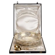 Le Tallec of Paris Gilded Porcelain Serving Set in Presentation Box