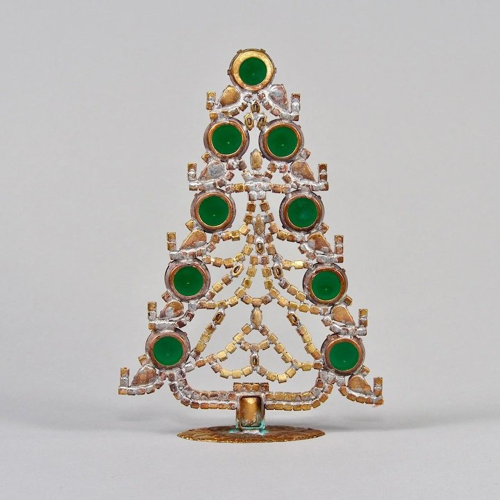 Czech Rhinestone Jeweled Table Top Stand Up Christmas Tree : Judy ...