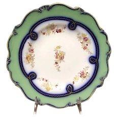 19th Century English Coalport Porcelain Hand Painted Plate