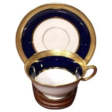 Lowell Cobalt Blue by Lenox Dulin & Martin Co. Footed Demitasse Cup Saucer Set - Set of 11