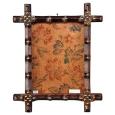 Antique 19th Century Small English Arts and Crafts Framed Tapestry