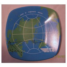 UTA Airlines Promotional Ashtray - Circa 1970