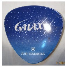 Air Canada Promotional Ashtray for The GALAXY Service - Circa 1969