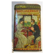 Lovely Old DROSTE Cacao Tin - Circa Early 1900's.