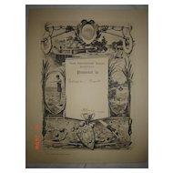 ART DECO 1933 Swimming  / Life Saving Certificate