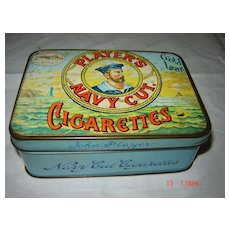 PLAYERS Navy Cut 50 Cigarettes Tin -Circa Early 1900's