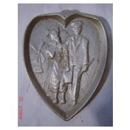 Naughty Risque Dutch Couple Ashtray - Early 1900's