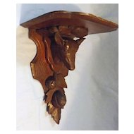 German 'Black Forest' Carved 'Stag' Wall Shelf