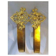 Victorian Art Nouveau Drapes Tie -Back Fittings