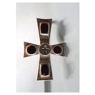 Page Marker Sterling Silver Cross with Enamel Cabochons