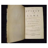 The Spirit of Laws - M. de SECONDAT Vol II 1758