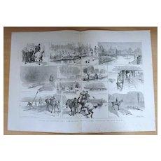 Oxford cambridge Boat Race - The Graphic 1887