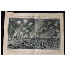 WWI 'The German Offensive at Pozieres -Illustrated London News 1918
