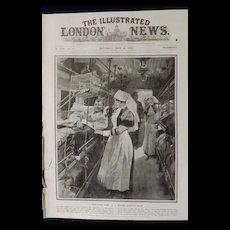 WWI - British Hospital Train -Illustrated London News 1918