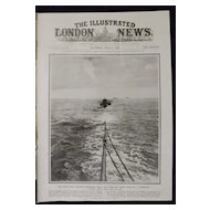 WWI 'The Zeebrugge Mole Submarine - Illustrated London News 1918