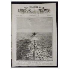 WWI 'The Zeebrugge Mole Submarine - Illustrated London News 1918