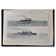 WWI -H.M.S. Vindictive -London Illustrated News 1918