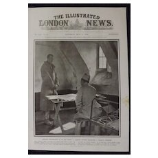 WWI - French Officer  with German Prisoner -Illustrated London News 1918