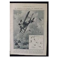WWI - Acrobatics of  Air  Warfare -Illustrated London News 1918