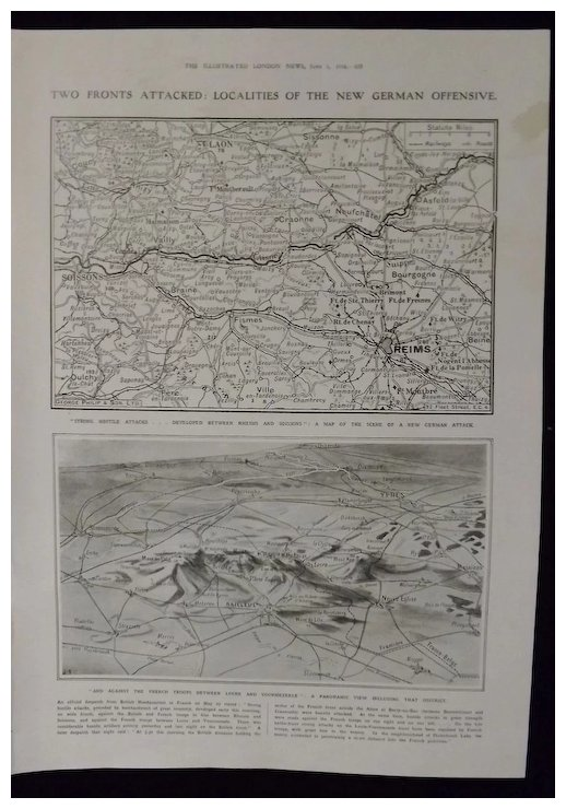Wwi New German Offensive Maps Illustrated London News 1918