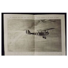 WWI - The Aeroplane That Flew Itself - Illustrated London News 1918