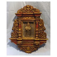 Peruvian Retablo Shrine of The Madonna -Circa Early 1900's