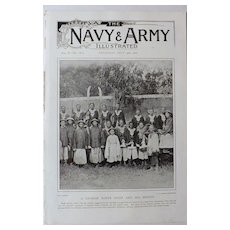 A Chinese Boxer Chief  And His Braves -The Navy & Army Illustrated1900