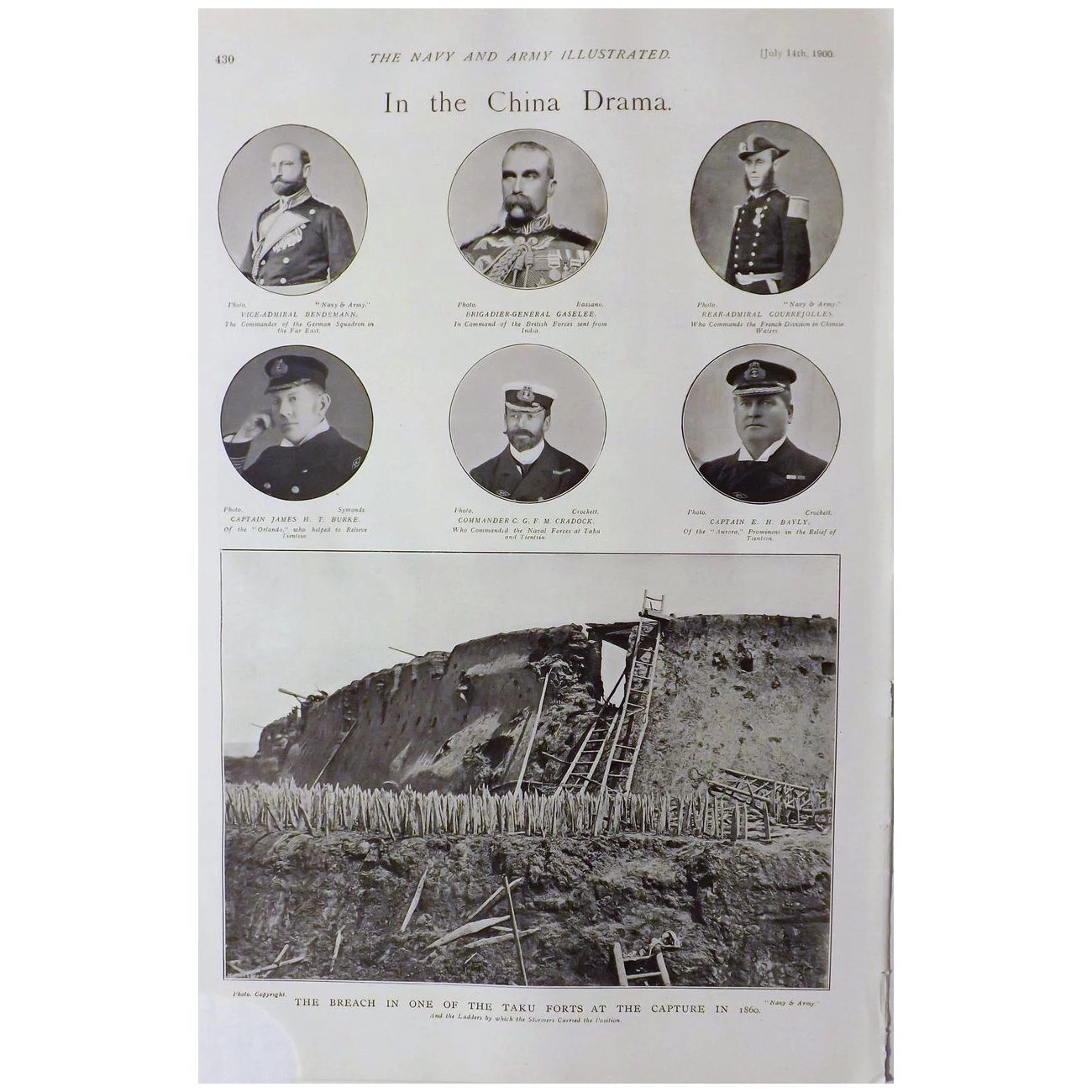 In The China Drama - The Navy & Army Illustrated 1900
