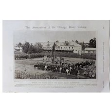 Boer War Annexation of The Orange River Colony- The Navy & Army Illustrated 1900