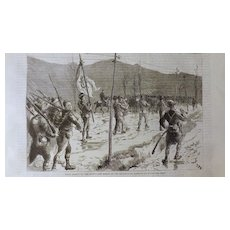 The Graphic 1885- The War Between Servia & Bulgaria