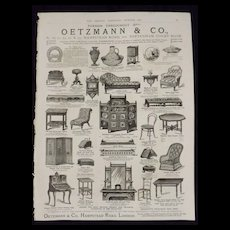 Oetzmann & Co Funishers of London -The Graphic 1880