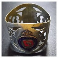 R.M.S. Scythia - Cunard White Star Line -Napkin Ring