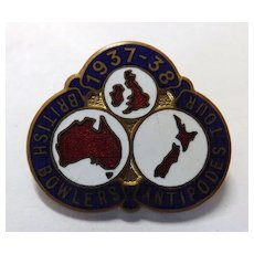 British Bowlers Team Tour Badge Off The Antipodes  1937-38